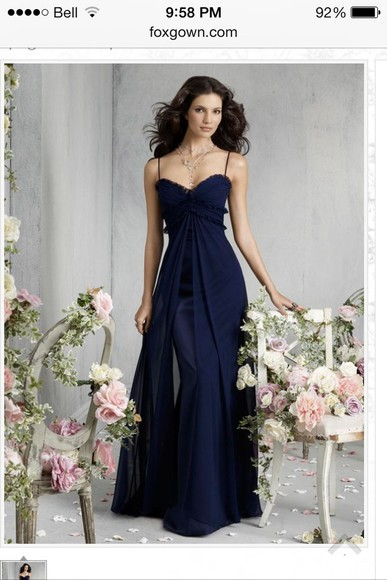 dress graduation dresses long prom dresses prom dress navy blue chiffon satin spagetti straps ruffle aline a-line dresses sweetheart dresses sweetheart neckline pretty long dress no sleeves sleeveless graduation dress prom dresses