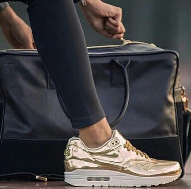Nike Khaki Shiny Shoes
