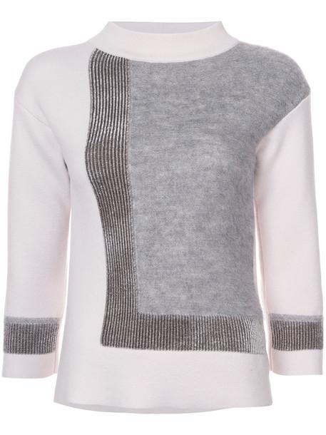 D.Exterior sweater women spandex mohair wool purple pink