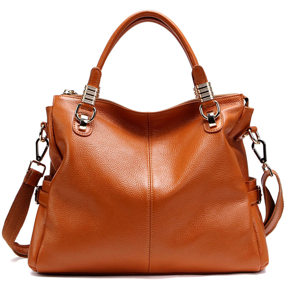 NEW Women'S Genuine Leather Handbag Shoulder BAG Tote Shopper | eBay