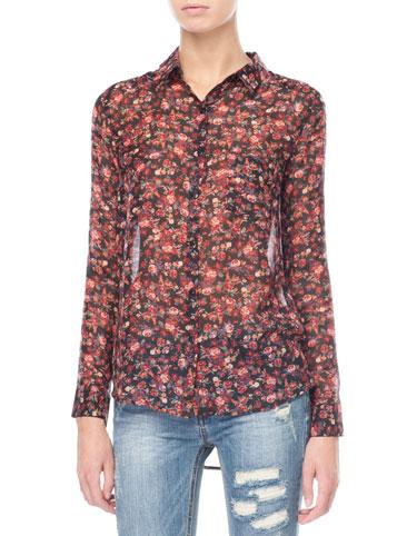 For Nice Online Buy Cheap Marketable Stradivarius Floral Shirt Wholesale Price Cheap Online 100% Authentic ctHrxq