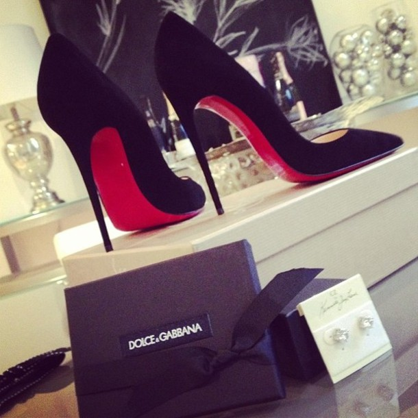 Shoes: dolce and gabbana, red bottoms, heels - Wheretoget