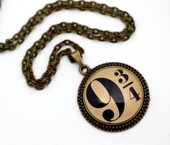 Aliexpress.com : buy 10pcs/lot harry potter platform 9 and 3/4 necklace from reliable necklace silver suppliers on hip cup's store