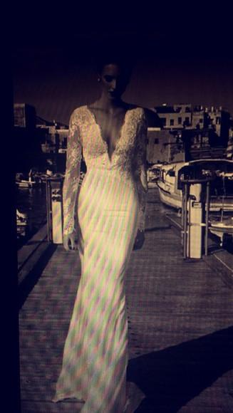white dress long sleeve dress wedding dress
