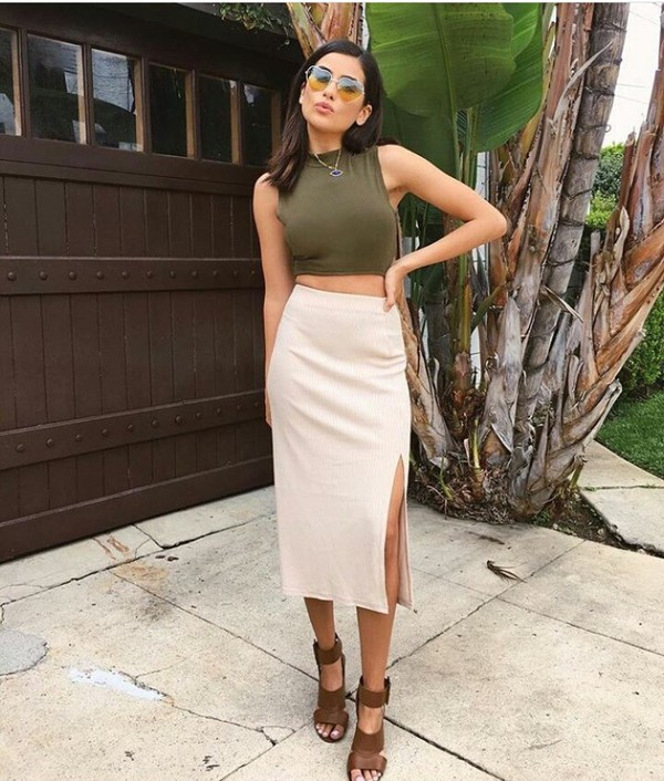 skirt outfit outfit idea summer outfits cute outfits