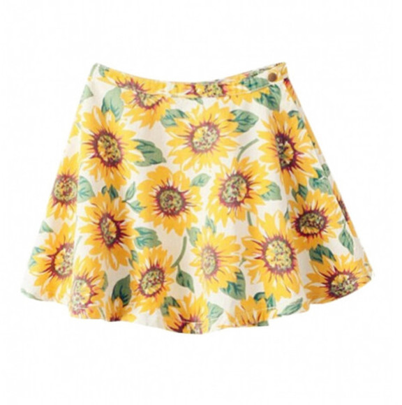 skirt top fashion clothes dress sunflower sunflower skirt blackfive bottoms shorts winter/autumn outfit girly