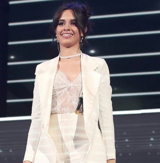 jewels camila cabello jewelry necklace choker necklace white chokers accessories celebrity style celebrity celebrities in white celebstyle for less white