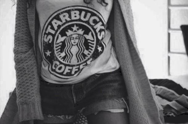 shirt tank top t-shirt starbucks coffee