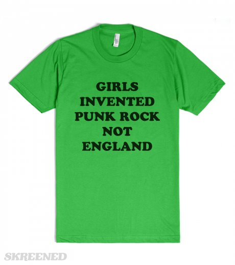 girls invented punk rock not england sonic youth fitted t shirt skreened. Black Bedroom Furniture Sets. Home Design Ideas
