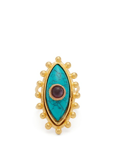 Sylvia Toledano ring gold blue jewels
