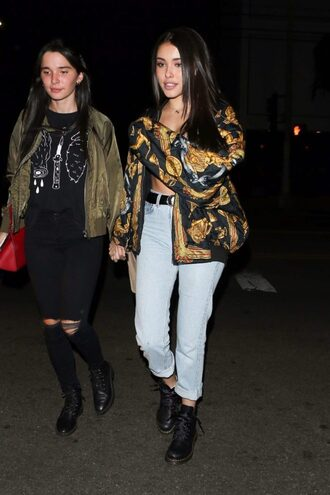 jacket jeans fall outfits fall jacket madison beer