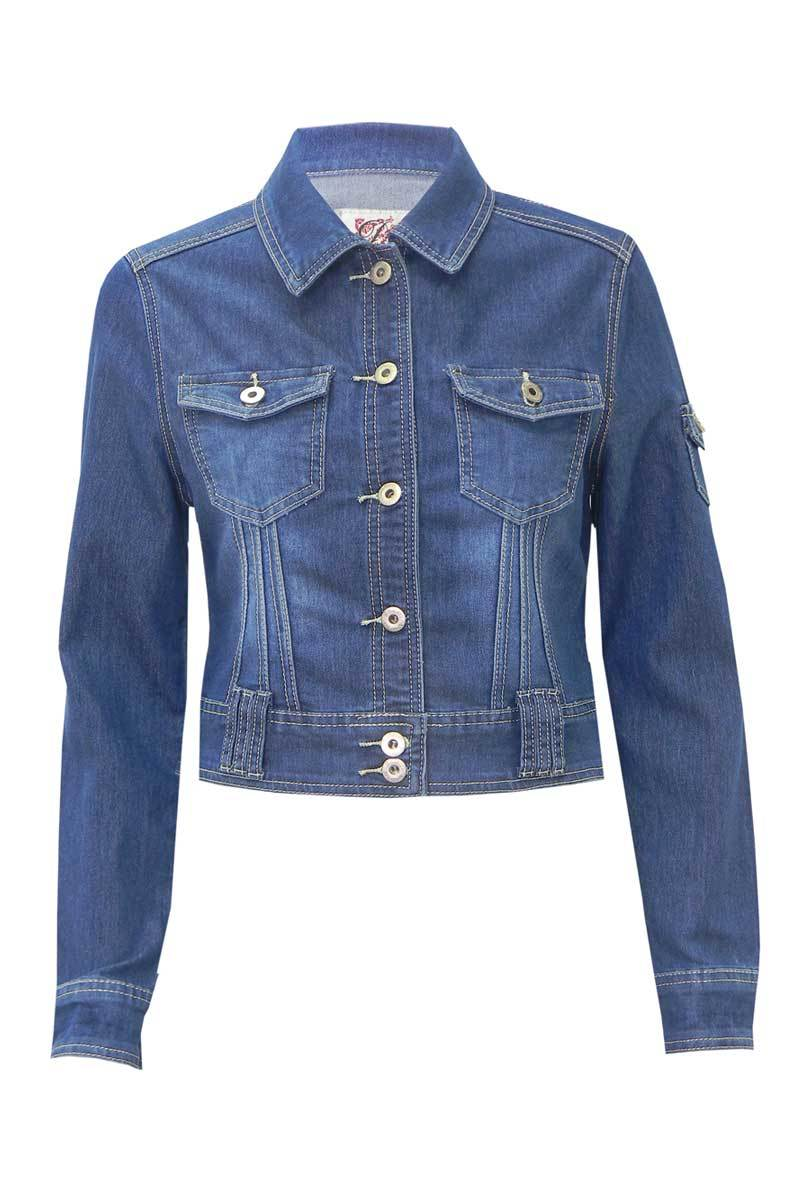 Coby Cropped Denim Jacket