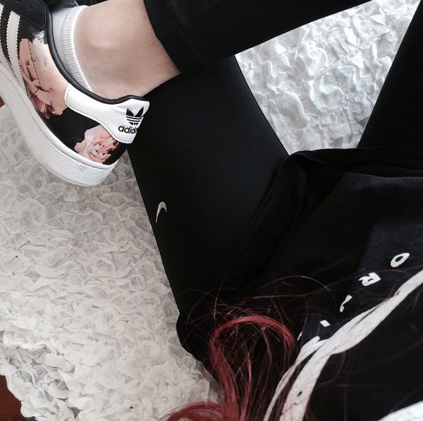 shoes adidas black floral white black and white pink flowers elif clifford leather lookin