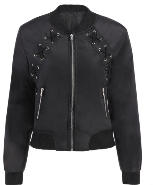 jacket black bomber jacket