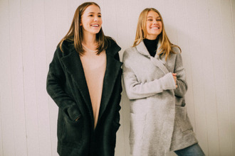 coat gris manteaux