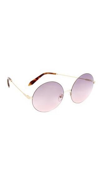 sunglasses round sunglasses gold pink