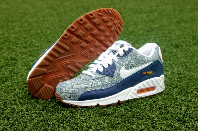 Nike air max 90 liberty of london blue on sale [blazersleopardtrainers679]