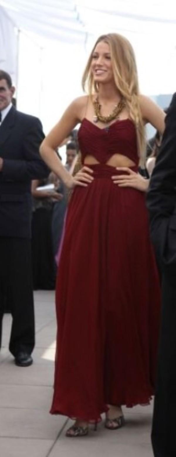 dress red dress blake lively gossip girl maxi dress