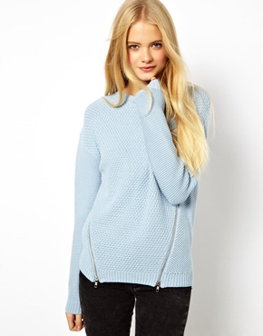 ASOS | ASOS Sweater With Side Zip Detail at ASOS