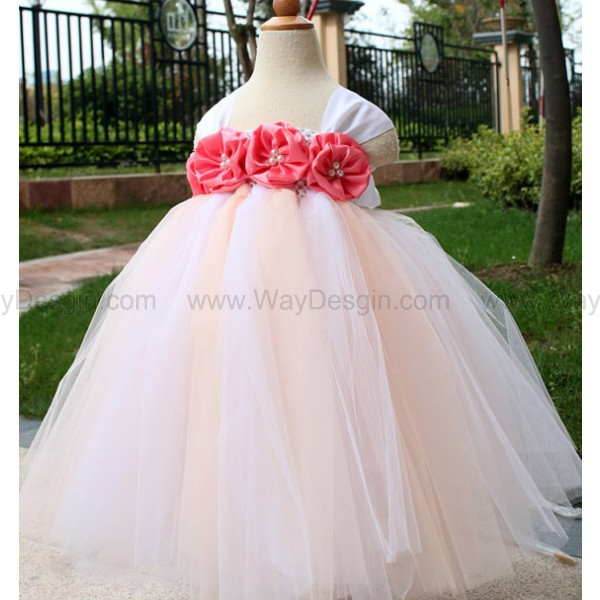flower girl dress coral rose flower girl dress dress
