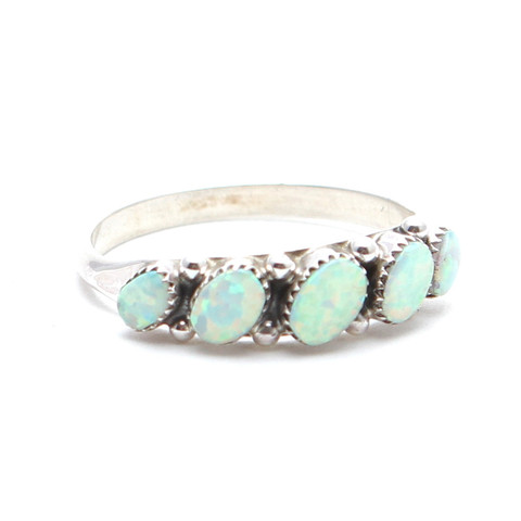 White Seeing Opal Zuni Ring | Child of Wild