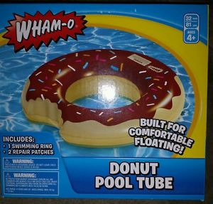 Gigantic 32 in Donut Pool Float Blow Up Summer Fun Toy Brand New Chocolate | eBay