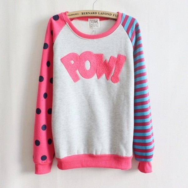 sweater polka dots pink stripes cardigan girly girl shirts