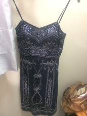 dress,k5671,mr k dress,mr k,cocktail dress,short navy blue dress,spaghetti strap,sequin dress