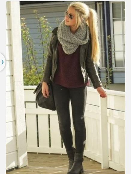scarf bag jacket