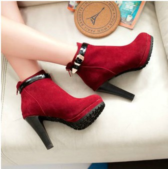 2013 fashion ultra high heels boots thick heel platform sexy boots buckle boots  ALEXANDRE BIRMAN-inBoots from Shoes on Aliexpress.com