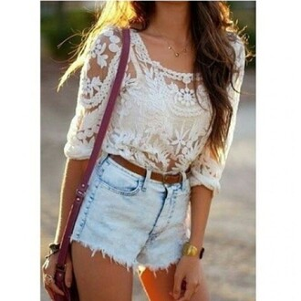 white lace top top