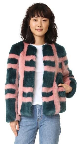 coat rose teal