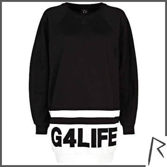 sweater rihanna black g4life