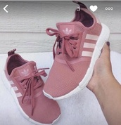 shoes,pink,adidas shoes,adidas,pink shoes,sneakers,mauve,pink sneakers,low top sneakers,pink adidas,adidas pink,rose,salmon,adidas nmd,rose gold,adidas nmd r1 pink,blush pink,blush,instagram,running shoes,addias shoes,trainers,pinkish nude,nude,white,pink adidas shoes