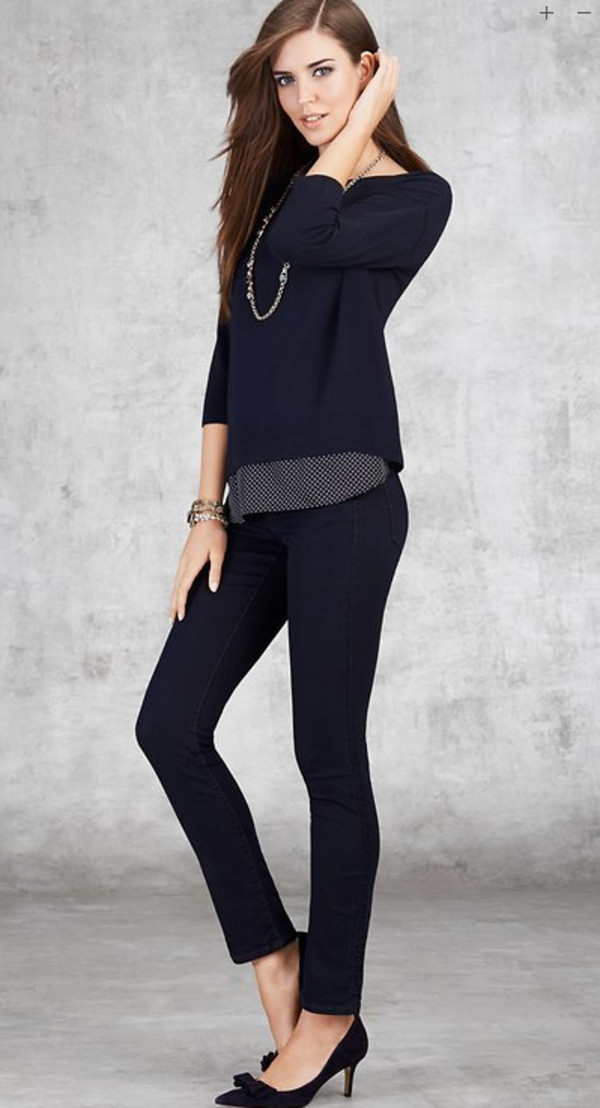 sweater ann taylor lookbook fashion jewels shoes jeans