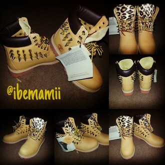shoes timberland leopard print boots spikes spiked shoes
