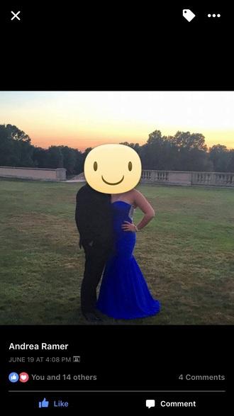 dress blue prom ball gown dress prom dress marine ball dress