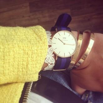fashionhippieloves jacket jewels jeans yellow jacket watch bracelets
