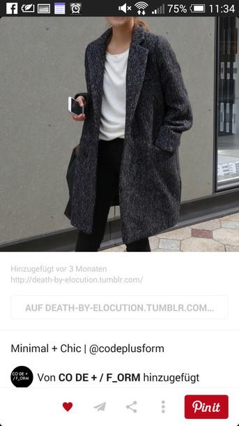 coat oversized coat classy outfit grey coat