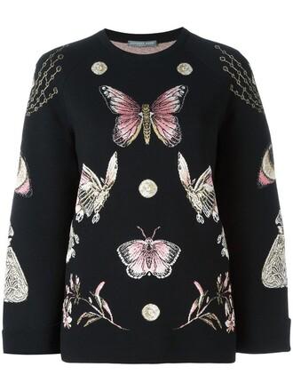 jumper metallic women black silk sweater