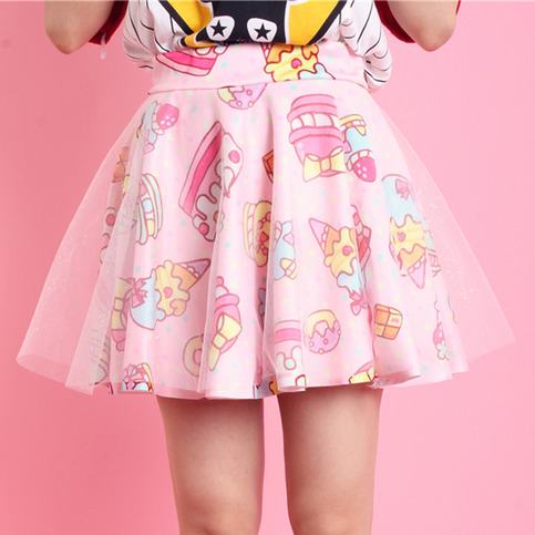 Cute cake donuts double gauze tutu skirts shorts · Cute Kawaii [Cute Harajuku] · Online Store Powered by Storenvy
