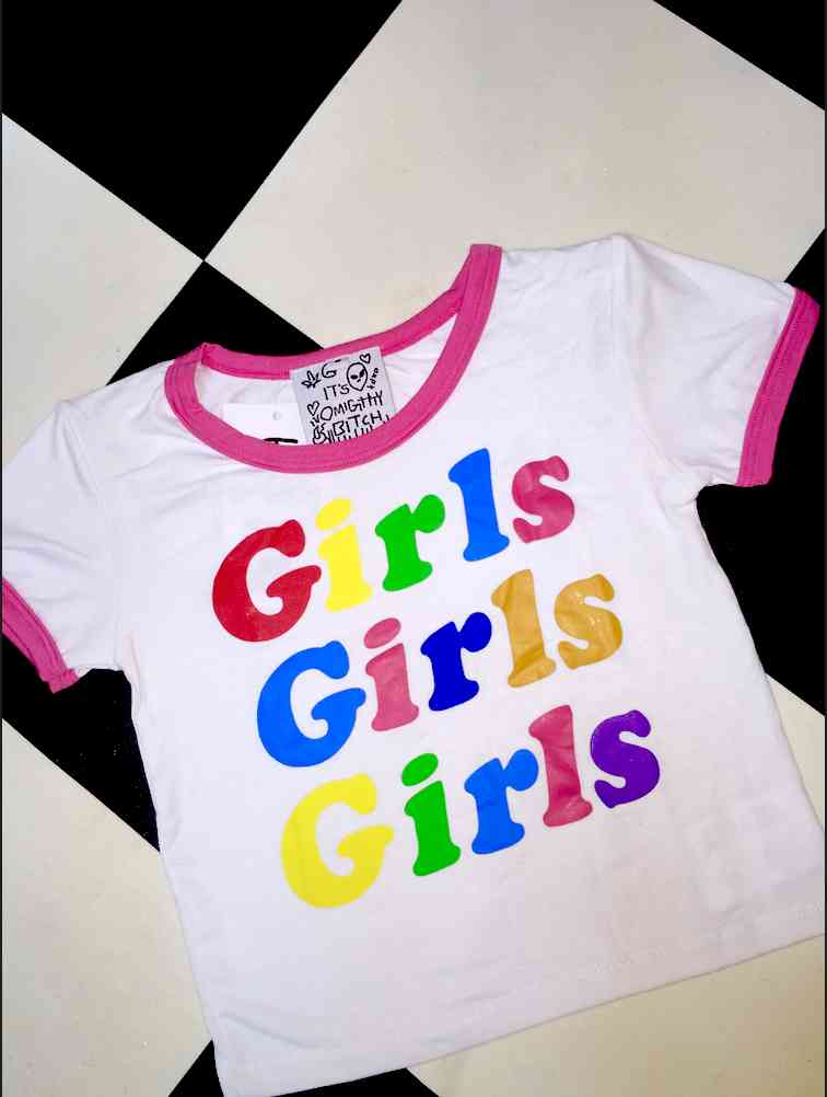 60eeeea7d42e91 SWEET LORD O MIGHTY! GIRLS GIRLS GIRLS RINGER TEE