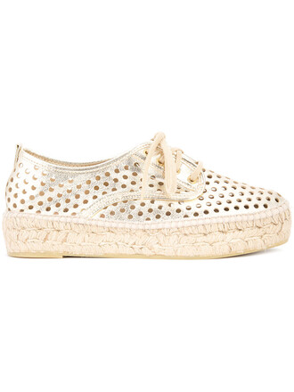 women espadrilles grey metallic shoes