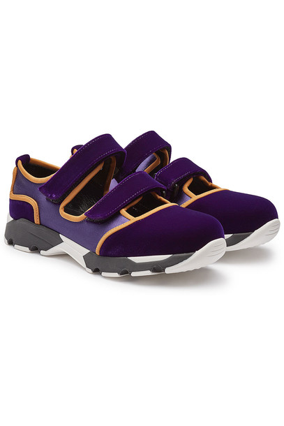 Marni Sneakers with Velvet and Satin  in purple