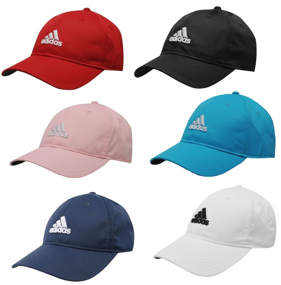 3a19f0584aa Adidas Mens Golf Sports Peak Cap Baseball Hat 3 Stripes Logo ...