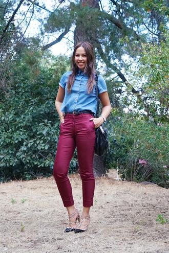 paradigma blogger top pants shoes bag jewels