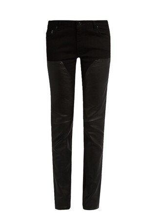 jeans leather black