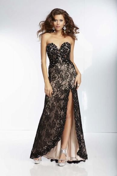 high-low dresses lace evening dresses