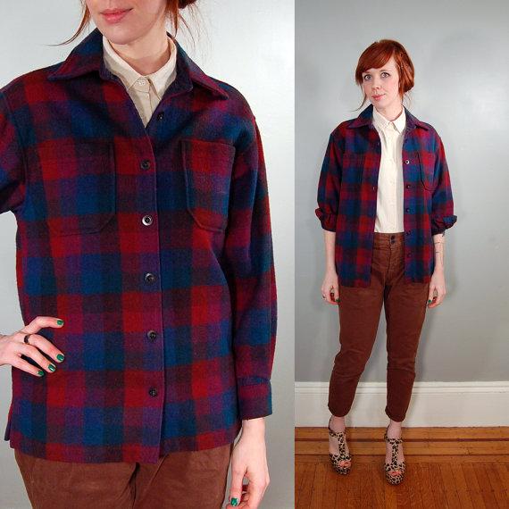 90's merlot plaid flannel shirt s petite par thepigeonchest sur etsy
