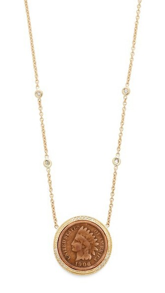 coin necklace necklace gold jewels
